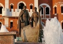 Работа фонтанов в Йошкар-Оле